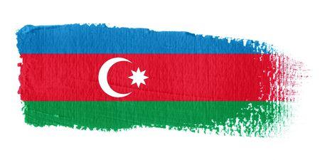 azerbaijan: Brushstroke Flag Azerbaijan