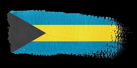 bahamas: Brushstroke Flag Bahamas