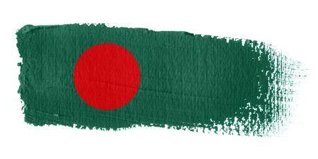 Brushstroke Flag Bangladesh photo