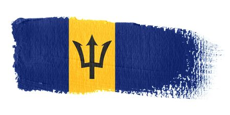 barbados: Brushstroke Flag Barbados