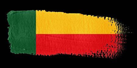 graphing: Brushstroke Flag Benin