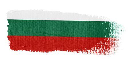 bulgaria: Brushstroke Flag Bulgaria