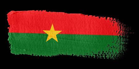 burkina faso: Brushstroke Flag Burkina Faso
