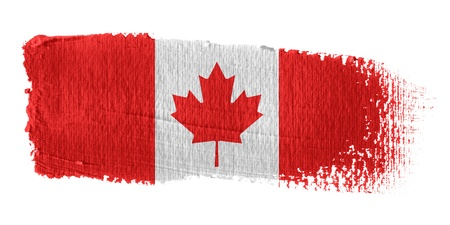 canadian state flag: Brushstroke Flag Canada Stock Photo