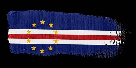 cape verde flag: Brushstroke Flag Cape Verde Stock Photo