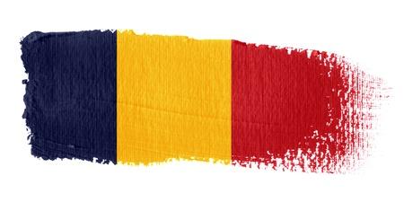 chad: Brushstroke Flag Chad Stock Photo