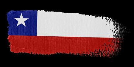 bandera chilena: Bandera de pincelada Chile Foto de archivo