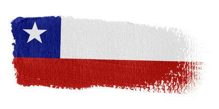 graphing: Brushstroke Flag Chile