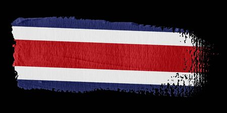 costa rica flag: Brushstroke Flag Costa Rica