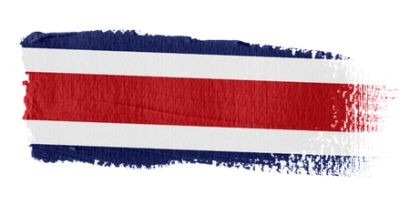 rica: Brushstroke Flag Costa Rica