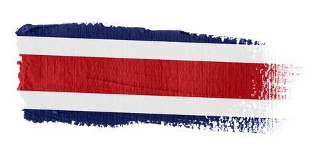 bandera de costa rica: Pincelada Bandera Costa Rica