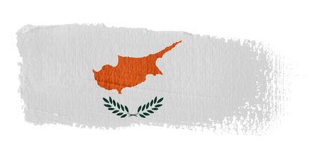 cyprus: Brushstroke Flag Cyprus