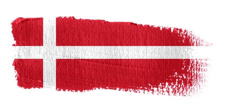 danish flag: Brushstroke Flag Denmark Stock Photo