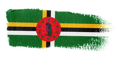 dominica: Brushstroke Flag Dominica