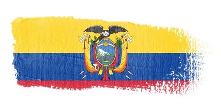 ecuador: Brushstroke Flag Ecuador