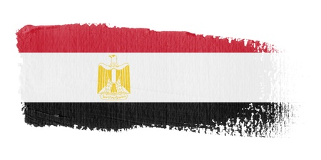 egypt flag: Brushstroke Flag Egypt