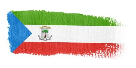 equatorial: Brushstroke Flag Equatorial Guinea