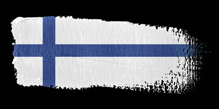 Brushstroke Flag Finland Stock Photo - 10531593