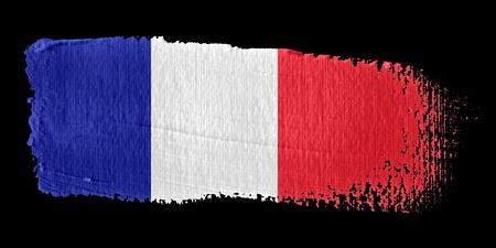 graphing: Brushstroke Flag France