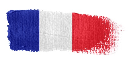 french flag: Brushstroke Flag France