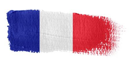 bandera francia: Pincelada bandera Francia Foto de archivo