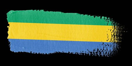 graphing: Brushstroke Flag Gabon