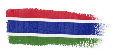 graphing: Brushstroke Flag Gambia Stock Photo