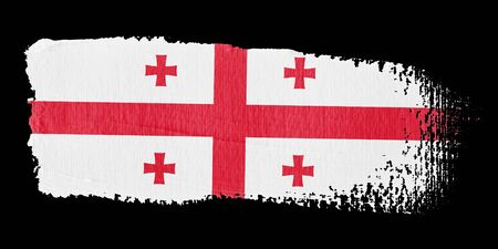 georgia flag: Brushstroke Flag Georgia Stock Photo