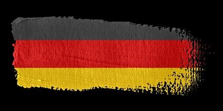 german flag: Brushstroke Flag Germany