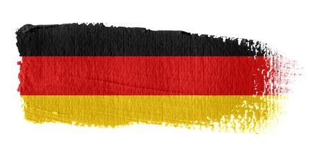 deutschland fahne: Brushstroke Flagge Deutschland Lizenzfreie Bilder