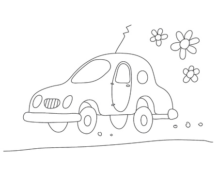 autos: Eco-car Illustration