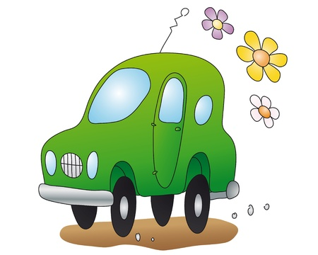 eco-car Stock Vector - 10545719