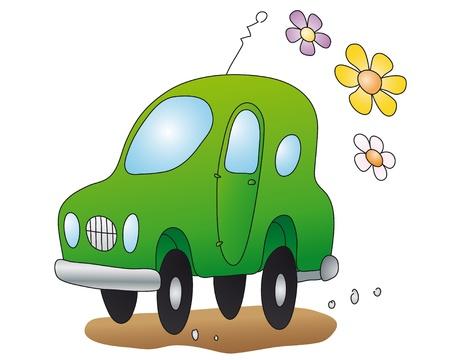 eco-car Vector