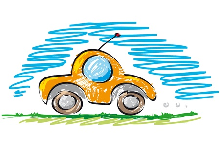 new car fast Stock Vector - 10545722