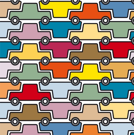 crowded: cars