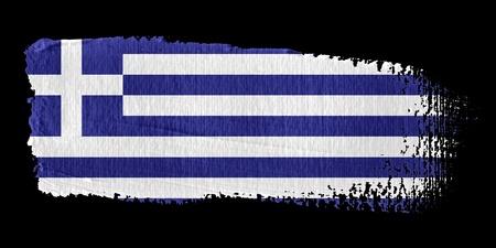 greek flag: Brushstroke Flag Greece Stock Photo