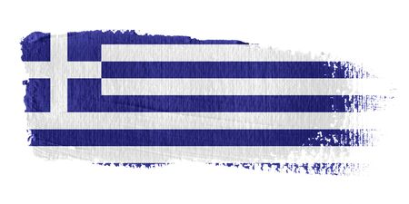 greece flag: Brushstroke Flag Greece Stock Photo