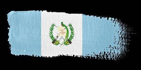 central america: Brushstroke Flag Guatemala