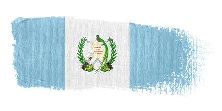 guatemala: Brushstroke Flag Guatemala