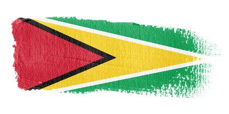 brushwork: Brushstroke Flag Guyana