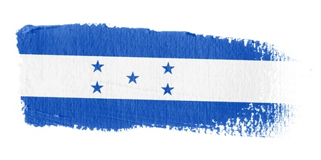 central america: Brushstroke Flag Honduras