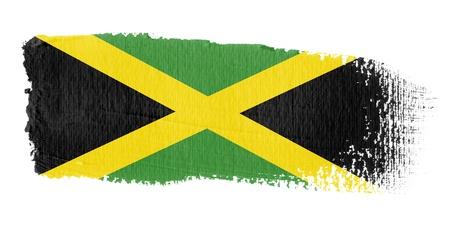 jamaica: Brushstroke Flag Jamaica Stock Photo
