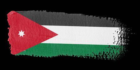 jordan: Brushstroke Flag Jordan