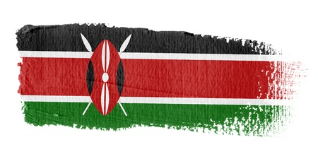 kenya: Brushstroke Flag Kenya