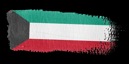 kuwait: Brushstroke Flag Kuwait Stock Photo
