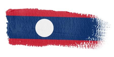 graphing: Brushstroke Flag Laos Stock Photo