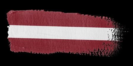 latvia: Brushstroke Flag Latvia Stock Photo