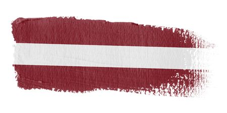 Brushstroke Flag Latvia Stock Photo - 10545777