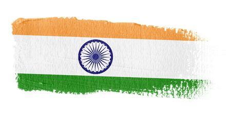 Brushstroke Flag India photo