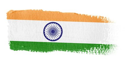 indian paint brush: Brushstroke Flag India